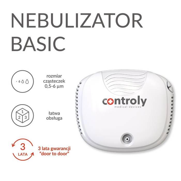 NEBULIZATOR BASIC tłokowy dla dzieci i dorosłych